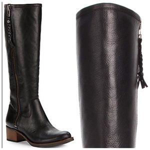 Lucky Brand Hesper Black Leather Riding Boot 6.5